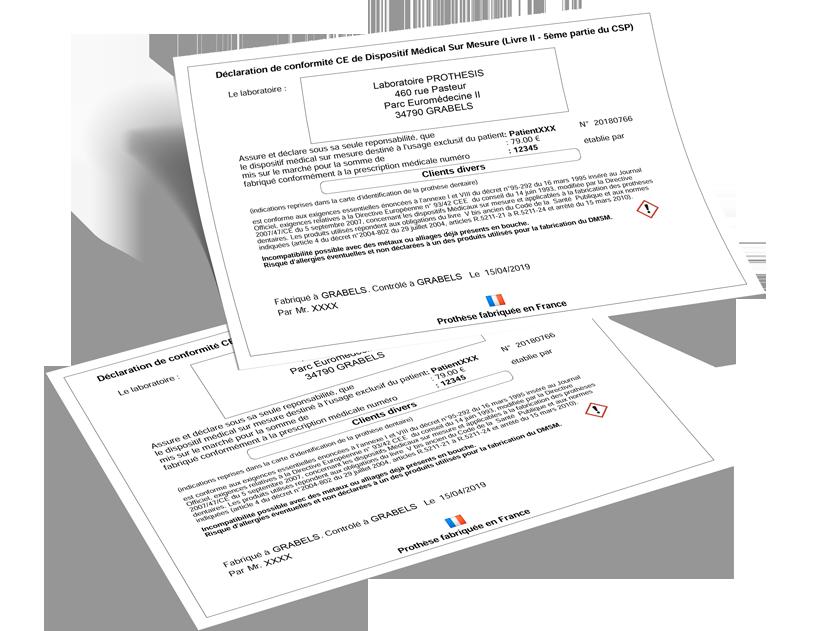 PROTHESIS - Carte d'identification et DMSM