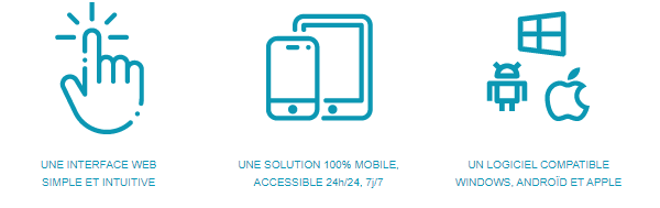 Une interface web simple et intuitive - Une solution 100% mobile - Un logiciel multiplateforme - Une vision accessible de l'informatique